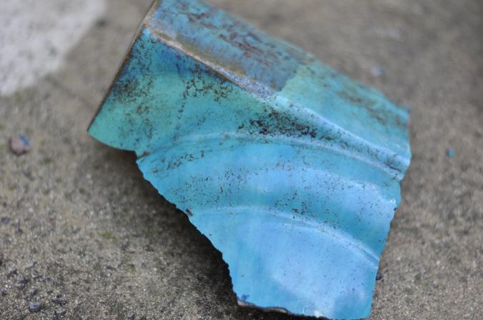 Broken vase fragment