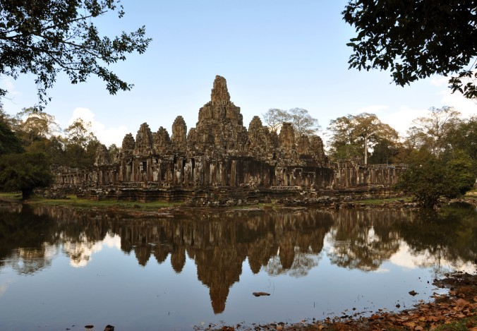 Angkor, Cambodia, temple, reflection