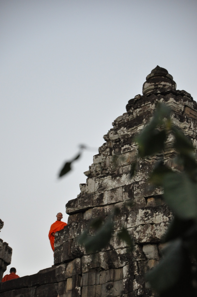 Monk at Sunset, Siem Reap, Cambodia, Angkor Wat