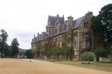 The back view from the gardens at Christ Church College