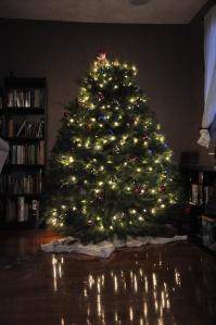 Christmas, tree, lights