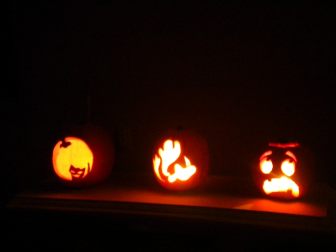 pumpkin, carving, jack-o-lantern