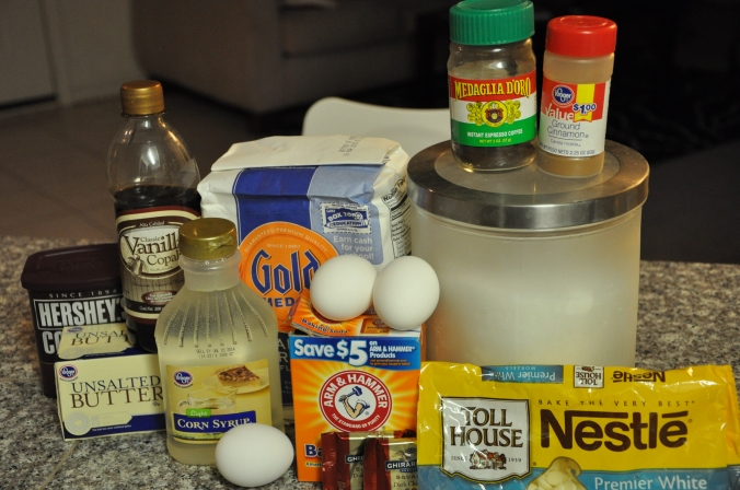 Brownie, ingredients