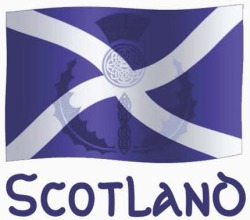 Scottish Saltire Flag with Celtic Knot Thistle Square Stickers _ Zazzle.co