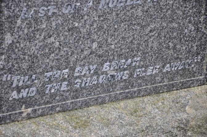 Kilmartin, Scotland, UK, cemetery, quotes