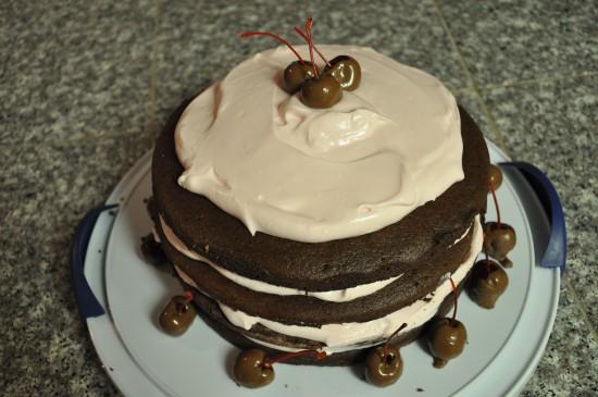 baking, chocolate, cherry, cake, recipe, frosting