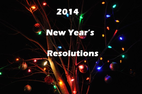 Christmas lights, tree, resolutions