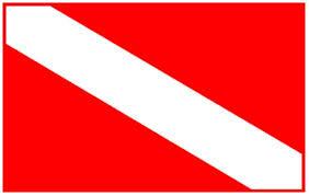 scuba, dive, flag, emblem