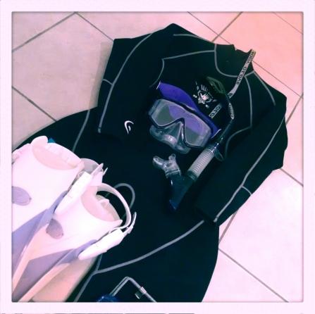 scuba, diving, snorkeling, fins, mask, wetsuit
