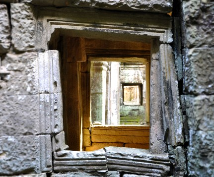window, angkor wat, cambodia