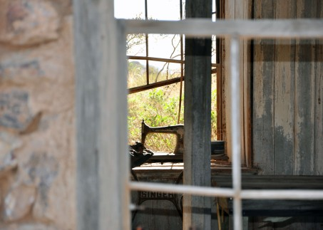 window, sewing machine, arizona
