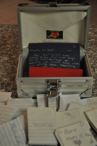 treasure box, memories, notes
