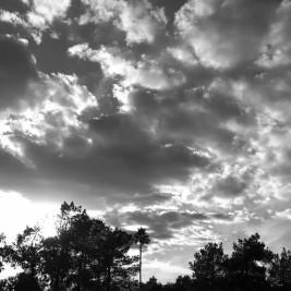 Alabama, clouds, sky, black and white