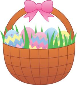 easter egg, easter basket, clipart