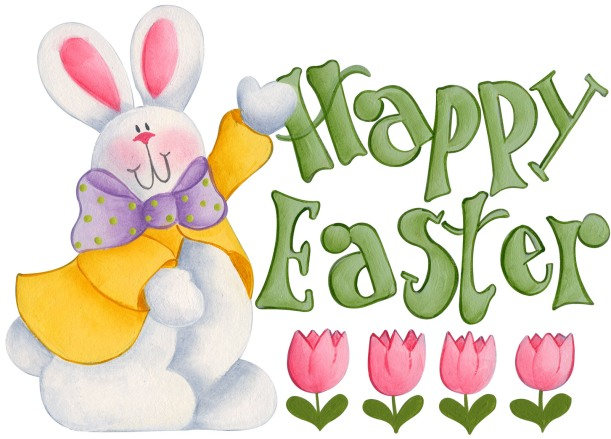 happy easter, bunny, clipart