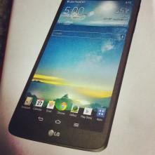 LG tablet, instagram