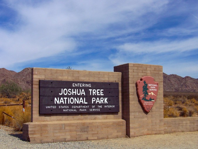 Entrance sign, Joshua Tree National Park, California
