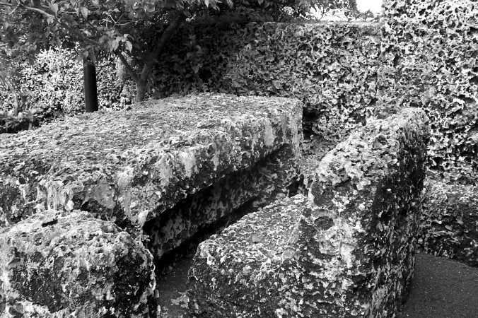 Coral Castle, Florida, Black and White Photography