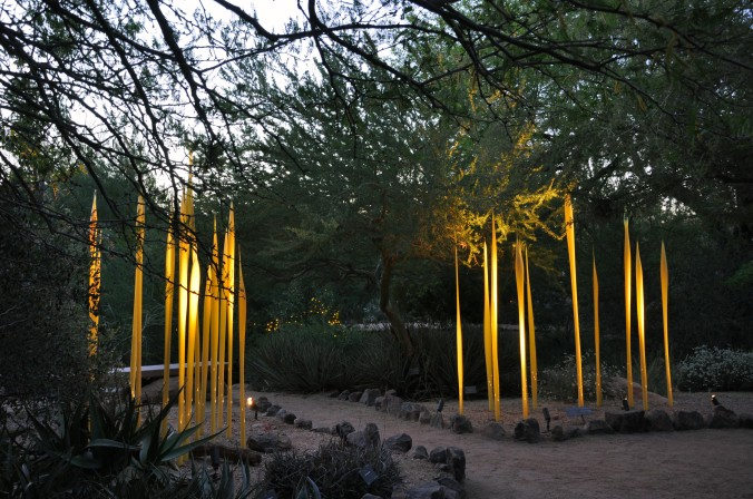 Chihuly glass sculptures, Phoenix Arizona, Desert Botanical Gardens