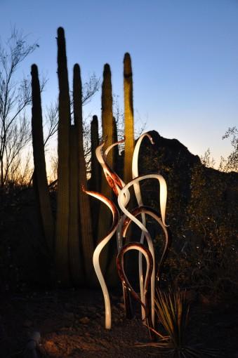 Chihuly glass sculptures, Phoenix Arizona, Desert Botanical Gardens