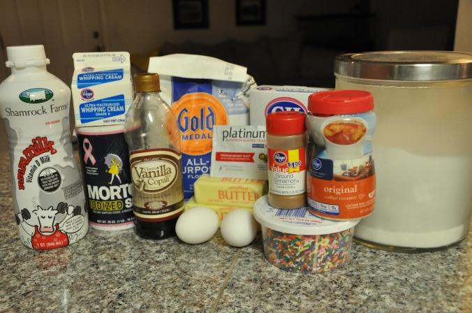 ingredients for cinnamon roll recipt