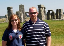 family vacation, Stonehenge Salisbury England UK