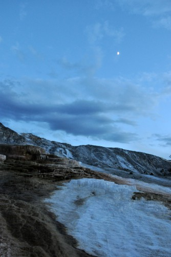 Yellowstone National Park, Wyoming, geothermal features, mammoth hot springs