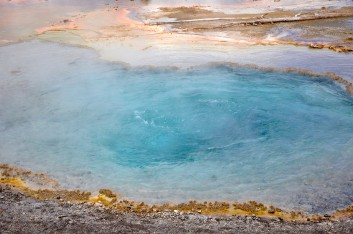 Yellowstone National Park, Wyoming, geothermal features, Firehole Spring