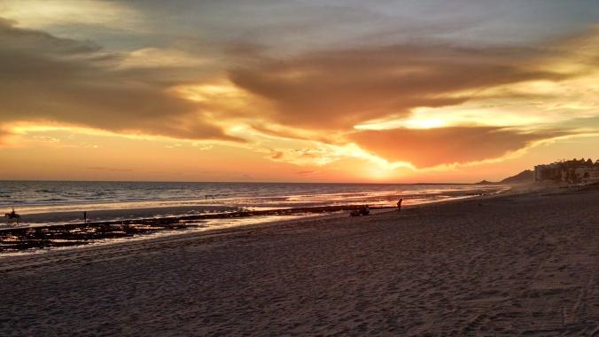 Mexico, sunset, beach