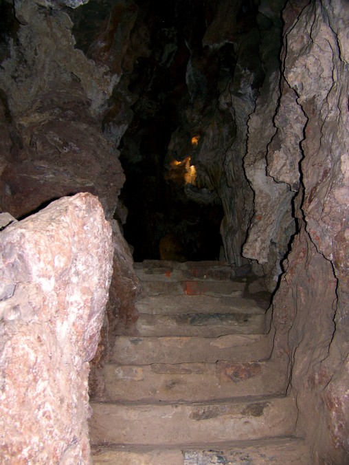 Cave, stairs