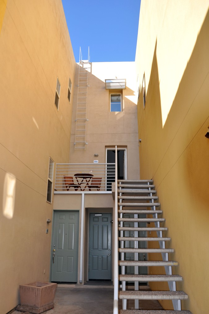 stairs to townhouse