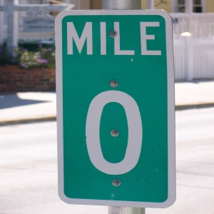 Key West, Florida, Highway 1, mile marker
