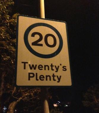 Scotland, road sign