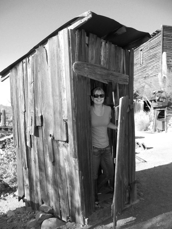 Black and white, outhouse