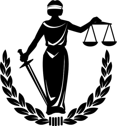 Blind justice clip art