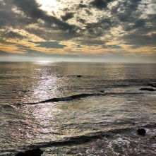 Pacific sunset Crystal Cove California
