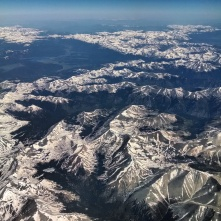 Colorado Rockies from airplane