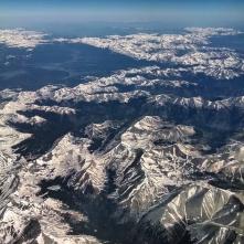 Colorado Rockies from airplane