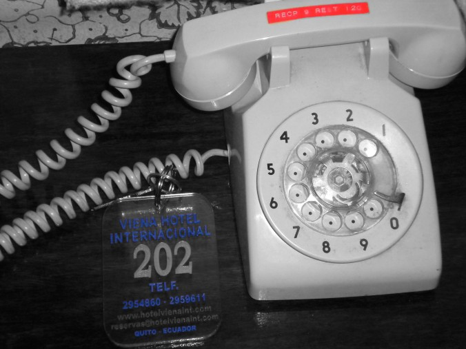 black and white rotary phone ecuador