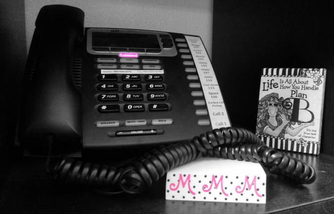 black and white office phone