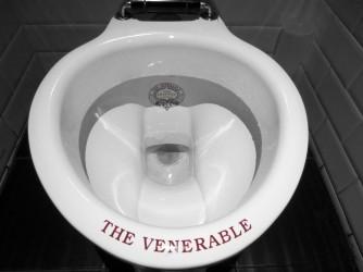black and white Scottish toilet