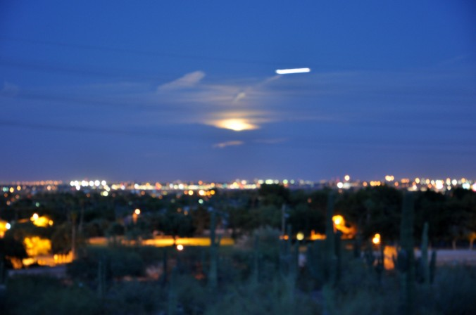 Desert Botanical Garden Phoenix Arizona supermoon