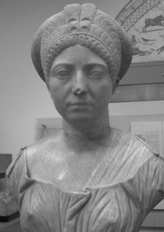 female marble bust missing nose