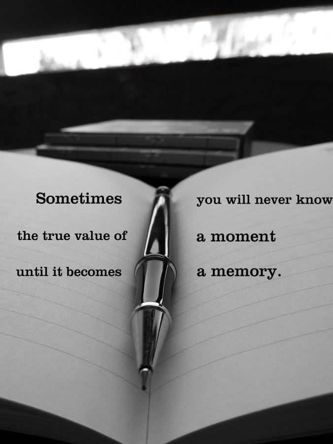 pen on notebook black and white quote