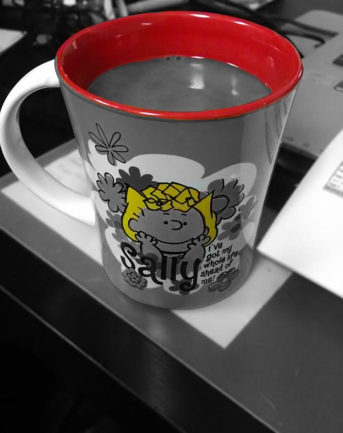 tea cup, Peanuts Sally