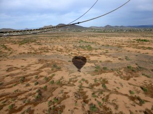 View over Sonoran Desert from hot air balloon