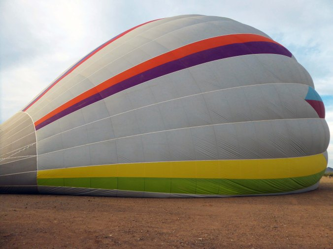 hot air balloon inflating, Carefree, Arizona