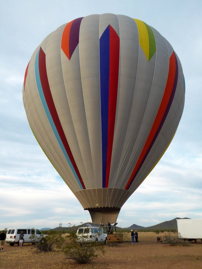 hot air balloon inflated, Carefree, Arizona