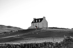 black and white, Isle of Islay, Scotland, UK