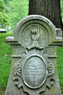 Woodland cemetery, Dayton, Ohio, finger pointing up